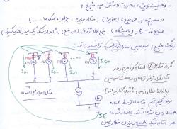 جزوه ی دست نویس دوره ی رله ی اشنایدر در دانشگاه تهران